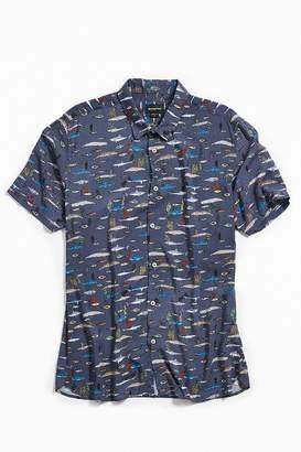Barney Cools Sea Life Short Sleeve Button-Down Shirt