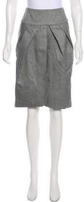 Giambattista Valli Knee-Length Wool Skirt
