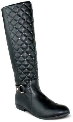 quilt uk wide knee ladies stretch high calf boots riding tall womens itm quilted size