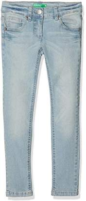 Benetton Girl's Trousers, Blue 902, (Size: 1y)