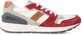 Ralph Lauren Train 100 Suede-Twill Sneaker
