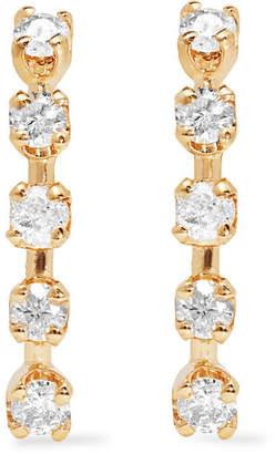 Loren Stewart - 14-karat Gold Diamond Earrings