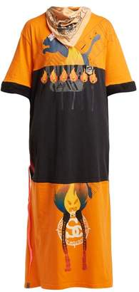 Couture Noki - Customised Street T Shirt Dress - Womens - Orange Multi