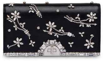 Prada Nappa leather clutch with crystals