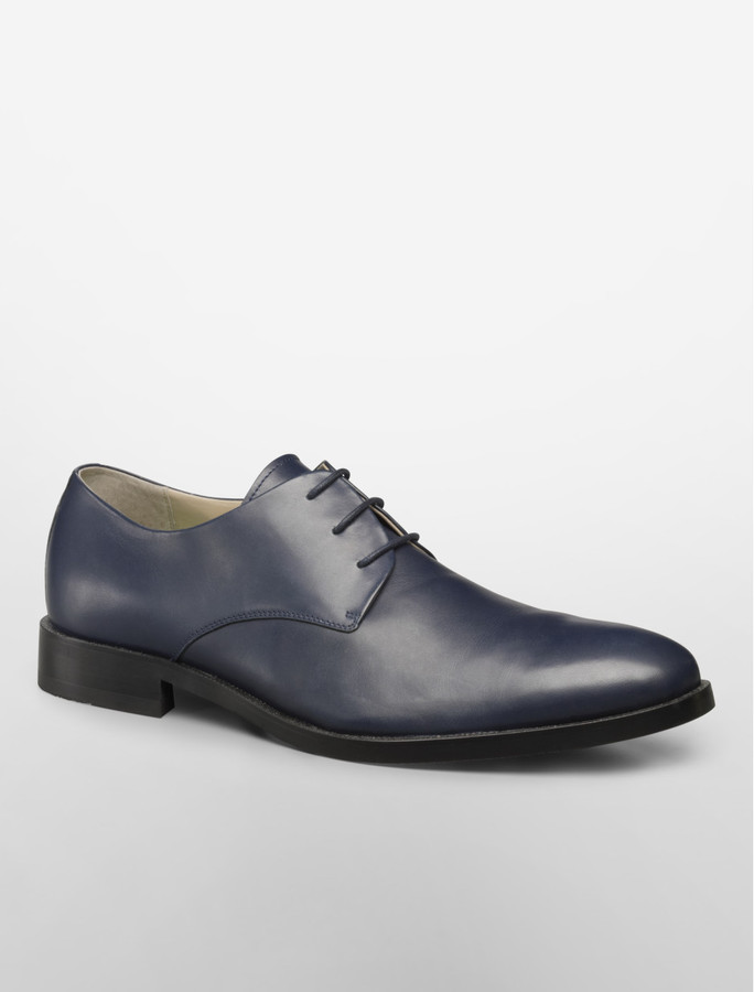 Calvin Klein Cade Blue Lace-Up Leather Shoes