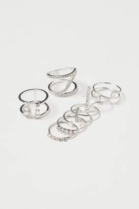 H&M 8-pack Rings - Silver