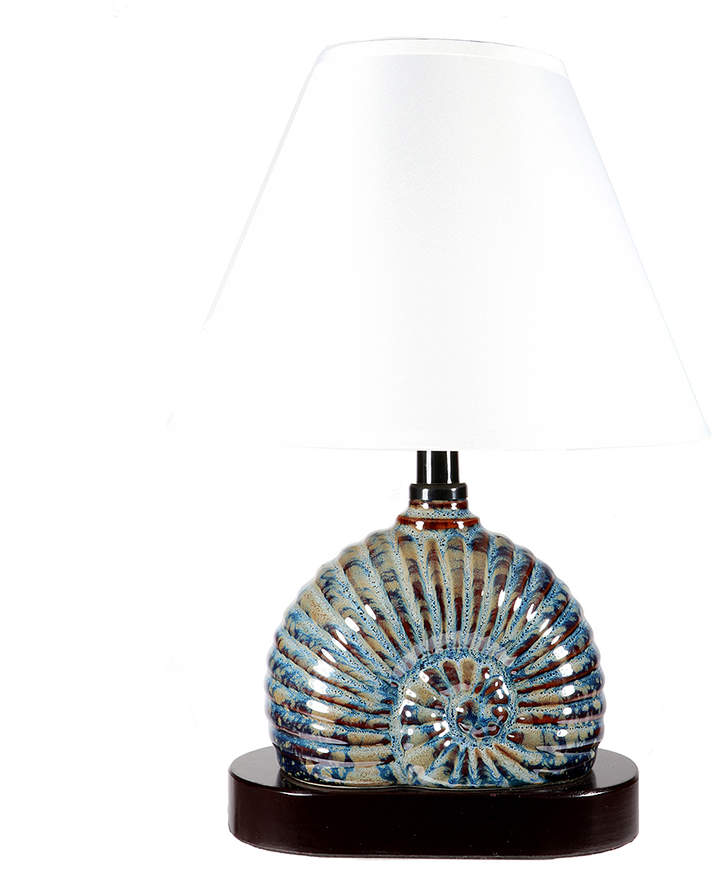 Blue Nautilus Lamp Size