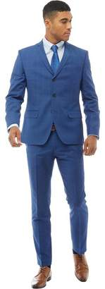 Ben Sherman Very Large Over Check Suit Bright Blue Ground