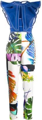 Genny Tropical print jumpsuit