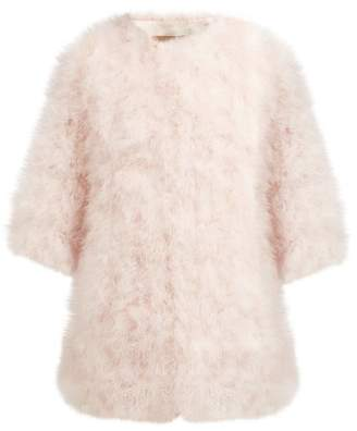 Yves Salomon Feather Jacket - Womens - Light Pink