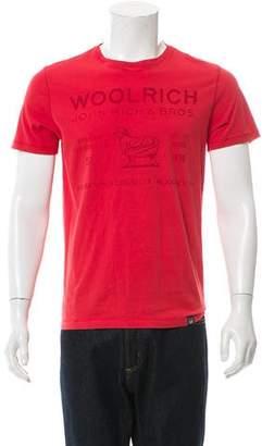Woolrich Logo Print Crew Neck T-Shirt w/ Tags