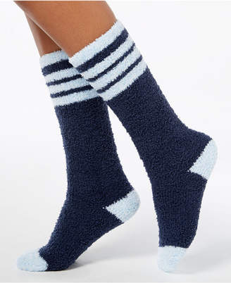 Charter Club Women Fuzzy Cozy Varsity Stripe Knee-High Socks