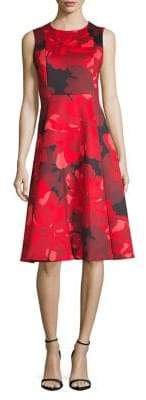 Calvin Klein Floral Fit--Flare Dress