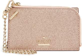 Kate Spade Burgess Court - Ivey Glitter Leather Card Holder