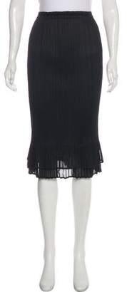 Issey Miyake Pleated Knee-Length Skirt