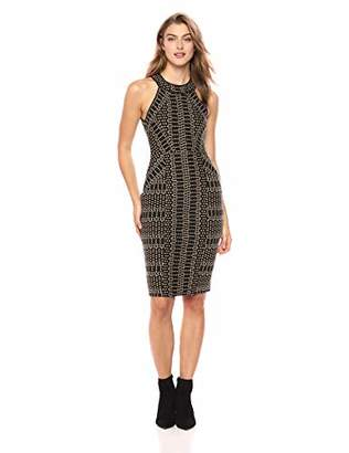 BCBGMAXAZRIA Azria Women's Pyramid Jacquard Sheath Dress