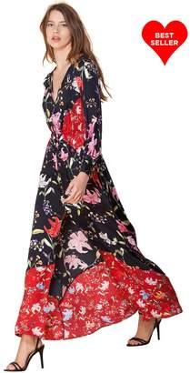 Hale Bob Kayla Satin Maxi Dress