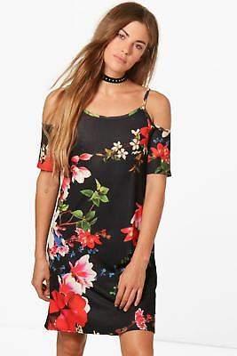 Damen Eartha Etuikleid mit Blumen-Print und ausgeschnittenen Schultern in