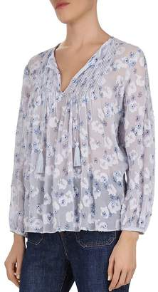 Gerard Darel Eileen Pintucked Floral-Print Top