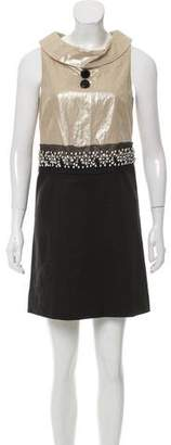 Robert Rodriguez Embellished Mini Dress