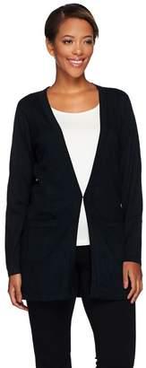 Joan Rivers Classics Collection Joan Rivers Cashmere Blend Boyfriend Cardigan