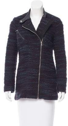 Yigal Azrouel Bouclé Leather Accented Jacket