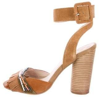 House Of Harlow Embellished Fringe Sandals