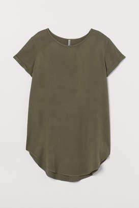 H&M H&M+ Viscose T-shirt Dress - Green