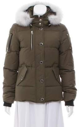 Moose Knuckles Fox Fur-Trimmed Down Coat w/ Tags