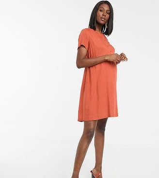 Mama Licious Mama.Licious Mamalicous maternity button front smock mini dress
