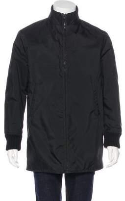 Miu Miu Wool-Trimmed Longline Jacket