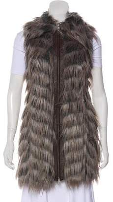 Rachel Zoe Faux Fur Zip-Up Vest