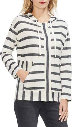 Vince Camuto Stripe Pique Hooded Jacket