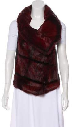 Helmut Lang Zip-Up Fur Vest