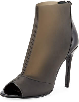 Charles by Charles David Reece Open-Toe Latex Booties