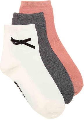 Steve Madden Bow Ankle Socks - 3 Pack - Women's