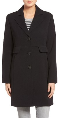 Women's Kenneth Cole A-Line Ponte Coat $198 thestylecure.com