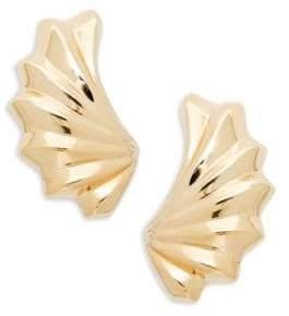 Saks Fifth Avenue 14K Gold Embossed Wing Earrings