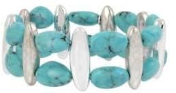 Robert Lee Morris Soho Turquoise and Crystal Stretch Bracelet
