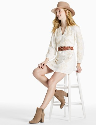 Lucky Brand Embroidered Peasant Dress