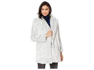 BB Dakota Cool Cat Snow Leopard Fur Coat
