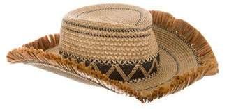 Erick Javits Woven Fringe Hat