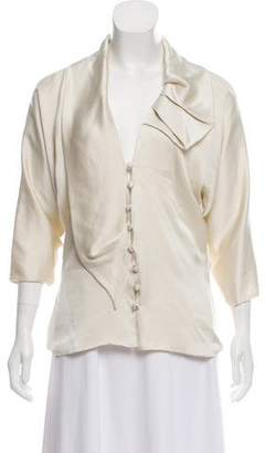 Martin Grant Silk Button-Up Top