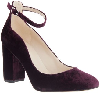b51b7fb1cba Marc Fisher Block Heel Pumps with Ankle Strap - Imagie2