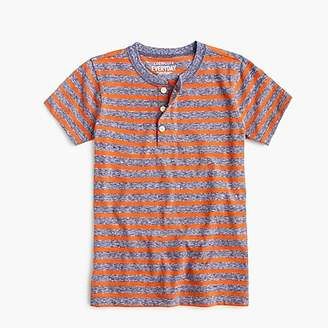 J.Crew Boys' striped short-sleeve henley shirt in the softest jersey