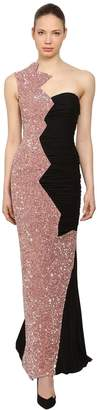 Moschino Chiffon & Sequins Dress