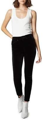 Blank NYC The Grand Dame Velvet High-Rise Ankle Pants
