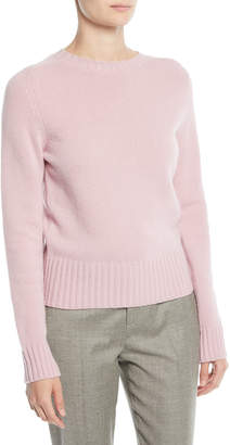 Ralph Lauren Crewneck Long-Sleeve Pullover Wool-Cashmere Sweater