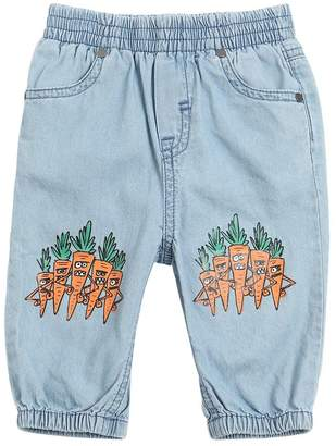 Stella McCartney Carrots Print Light Denim Pants