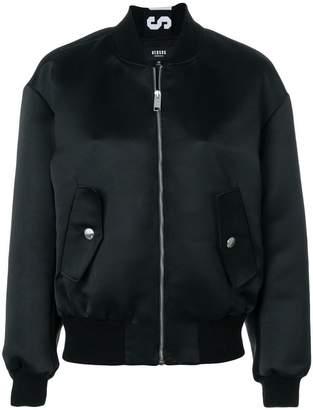 Versus logo strip bomber jacket